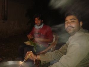 Brother-in-Law having fun in non-veg party organized by him