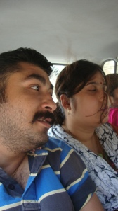 Me with Minki while driving..seems he had fun...
