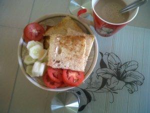 Ginger-Garlic bread with hot bournvita